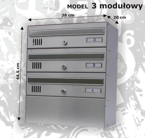 Skrzynka pocztowa 3 modułowa