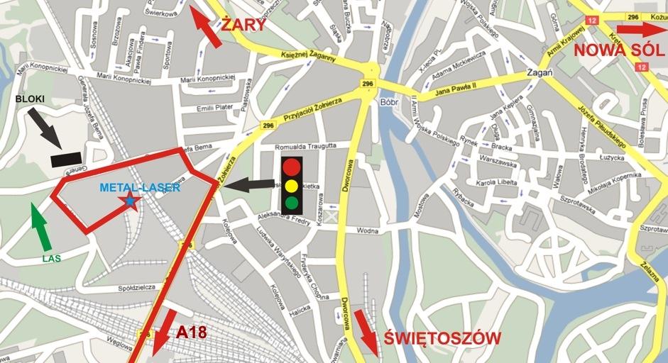 Mapa dojazdu 2