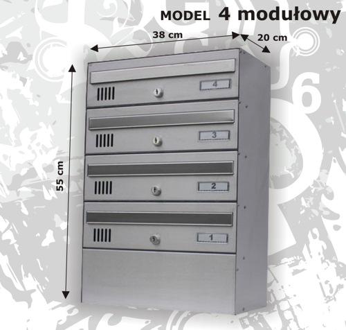 Skrzynka pocztowa 4 modułowa